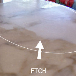 Etched Marble Table