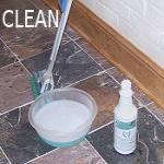 Clean with Marble,  Granite And More Floor Cleaner.