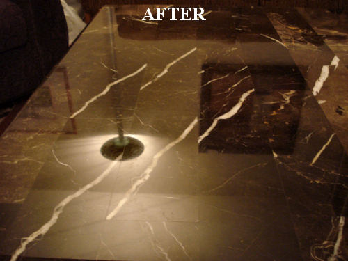 AFTER Polishing Marble