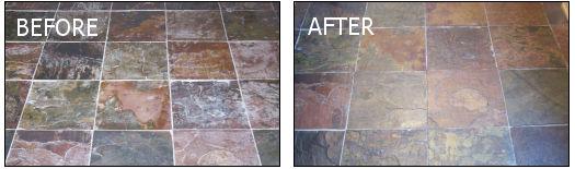Compare enhanced and not enhanced slate.