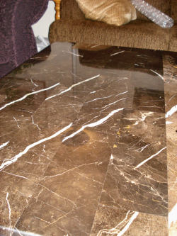 Polishing Marble To Remove Etches - AFTER