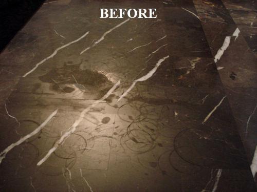 BEFORE Polishing Marble