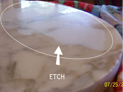 A large etch.